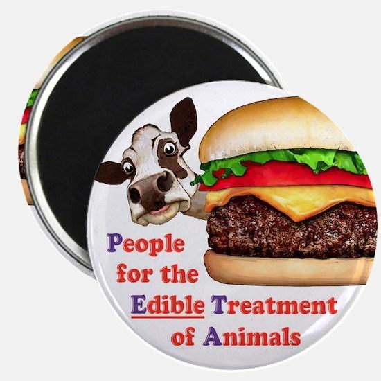 "PETA - Edible Treatment 2.25"" Magnet (10 pack)"