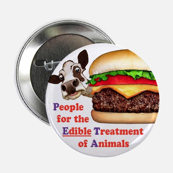 "PETA - Edible Treatment 2.25"" Button (10 pack)"