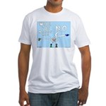 Sky Writing Proposal Fitted T-Shirt