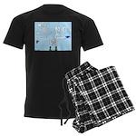 Sky Writing Proposal Men's Dark Pajamas