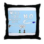 Sky Writing Proposal Throw Pillow
