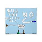Sky Writing Proposal Throw Blanket