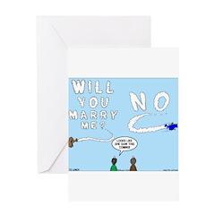 Sky Writing Proposal Greeting Card