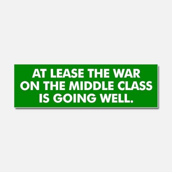 Middle Class Warfare Car Magnet 10 x 3