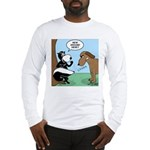 Dog Meets Skunk Long Sleeve T-Shirt
