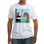 Dog Meets Skunk Fitted T-Shirt