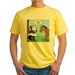 Dog Meets Skunk Yellow T-Shirt