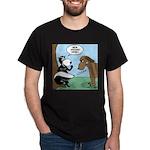 Dog Meets Skunk Dark T-Shirt