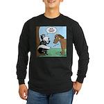 Dog Meets Skunk Long Sleeve Dark T-Shirt