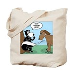 Dog Meets Skunk Tote Bag