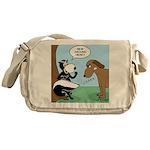 Dog Meets Skunk Messenger Bag