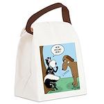 Dog Meets Skunk Canvas Lunch Bag