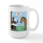 Dog Meets Skunk Large Mug