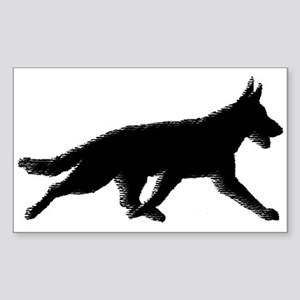 Flying Trot Rectangle Sticker