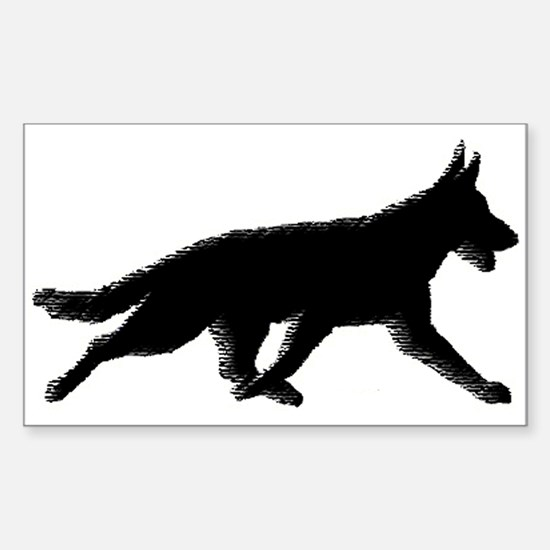 Flying Trot Rectangle Decal