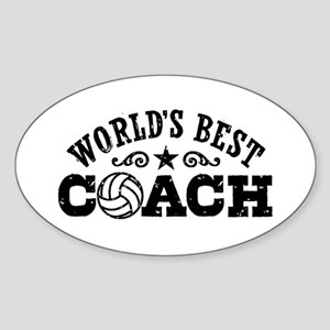 World's Best Volleyball Coach Sticker (Oval)