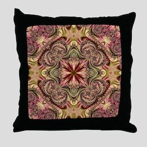 Kaleidoscope Fractal 405 Throw Pillow