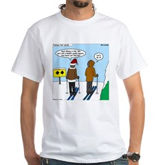 Idiot Skiers White T-Shirt