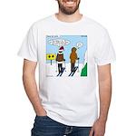 Idiot Skiers White T-Shirt
