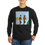 Idiot Skiers Long Sleeve Dark T-Shirt