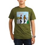 Idiot Skiers Organic Men's T-Shirt (dark)