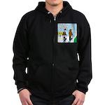 Idiot Skiers Zip Hoodie (dark)