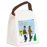 Idiot Skiers Canvas Lunch Bag