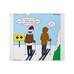Idiot Skiers Throw Blanket