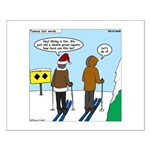Idiot Skiers Small Poster