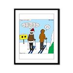 Idiot Skiers Framed Panel Print