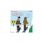 Idiot Skiers 35x21 Wall Decal