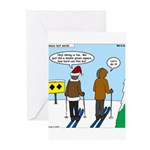 Idiot Skiers Greeting Cards (Pk of 20)