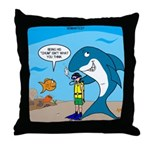 Shark Chum Throw Pillow