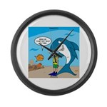 Shark Chum Large Wall Clock