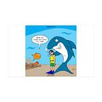 Shark Chum 35x21 Wall Decal