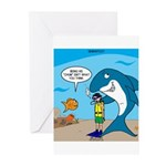 Shark Chum Greeting Cards (Pk of 10)