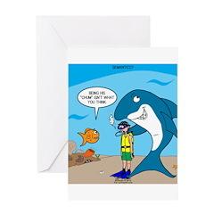 Shark Chum Greeting Card