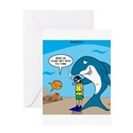 Shark Chum Greeting Card
