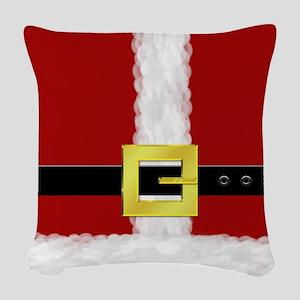 Santa Suit Woven Throw Pillow