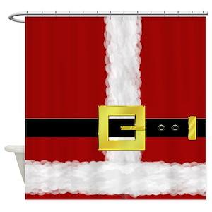 Santa Suit Shower Curtains