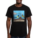 SCUBA Surprise Men's Fitted T-Shirt (dark)