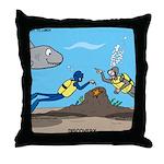 SCUBA Surprise Throw Pillow