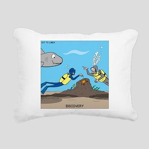 SCUBA Surprise Rectangular Canvas Pillow