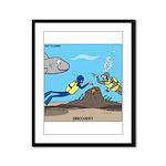 SCUBA Surprise Framed Panel Print
