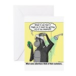 Gorilla Shampoo Commercial Greeting Cards (Pk of 2