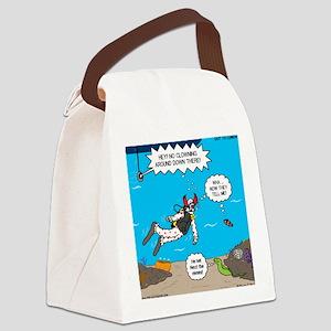 SCUBA Clowning Around Canvas Lunch Bag