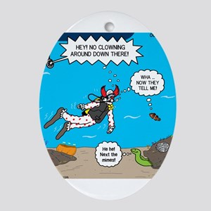 SCUBA Clowning Around Ornament (Oval)