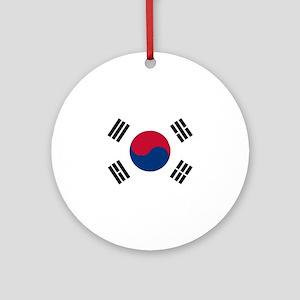 South Korean Flag Round Ornament