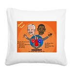 Political Looney Tunes Square Canvas Pillow
