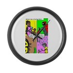 Bug Mothers Day Presents Large Wall Clock